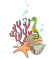 Creatures under the sea vector image vector image