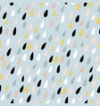 cute seamless pattern with colorful water drops vector image vector image
