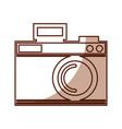 cute shadow camera cartoon vector image vector image