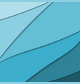 different shades of blue paper vector image