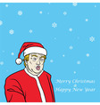 Donald Trump Christmas Greeting Card vector image vector image