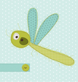 dragonfly greeting card vector image vector image
