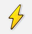 electric lightning bolt thunderbolt strike vector image vector image