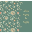 fantastic flower card vector image