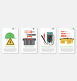 four banner for electrical equipment vector image