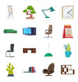 furniture and work sign vector image vector image