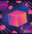 geometrical futuristic backgrouns vector image vector image