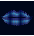 Lips stylized effect equalizer light vector image vector image