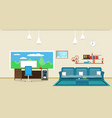 living room interior design relax with sofa and vector image vector image