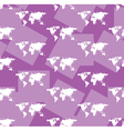 maps on violet seamless background vector image vector image