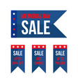 memorial day sale design elements vector image