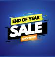 modern end year sale banner promotion label vector image vector image