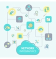 Network And Server Infographics vector image vector image