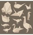 origami birds vector image vector image