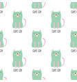 pattern cute cat in scandinavian style vector image vector image