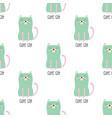 pattern cute cat in scandinavian vector image vector image
