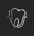 periodontistry chalk white icon on black vector image