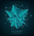 polygonal abstract futuristic template low poly vector image vector image