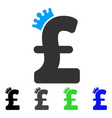 pound crown flat icon vector image vector image