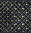 quilted black 3d seamless pattern abstarct vector image vector image