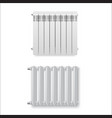 radiators different types realistic set heating vector image vector image