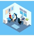 Reception At Pediatrician Isometric Design vector image vector image