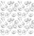 seamless cotton pattern vector image vector image