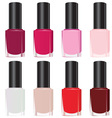 Set nail polish vector image