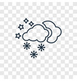 snow concept linear icon isolated on transparent vector image