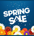 spring sale banner photoreal vector image