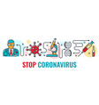 stop 2019-ncov coronavirus banner vector image vector image