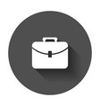 suitcase icon luggage in flat style with long vector image vector image