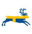 Swedish reindeer vector image vector image