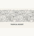 tropical resort banner concept vector image vector image