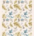 vintage damask pattern old 30s style vector image vector image