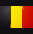 vintage grunge texture flag belgium vector image vector image