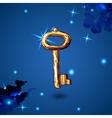 vintage key vector image vector image