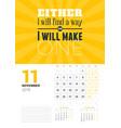 wall calendar template for november 2019 design vector image vector image