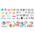 watercolor shapes lines and patterns abstract vector image