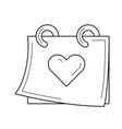 wedding day line icon vector image