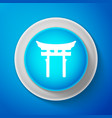 white japan gate icon torii gate sign vector image vector image