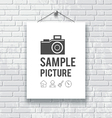 White paper on gray block wall background vector image