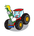with beer tractor mascot cartoon style vector image