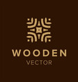 wooden logo design creative symbol element for vector image