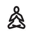 yoga meditation icon vector image