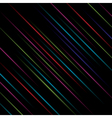 black background with color lines vector image
