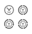 Clocks with arrows as a symbol of run of time vector image