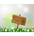 advertisement wooden board on a loan vector image