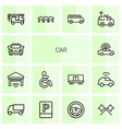 14 car icons vector image vector image