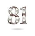 81 years anniversary celebration design vector image vector image